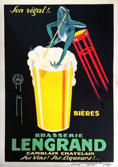 Brasserie Lengrand by G. Piana. French Vintage Beer Advertising Print/Poster (4933)